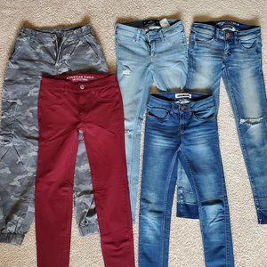 5 Pack 00 Pants and Skinny Jeans